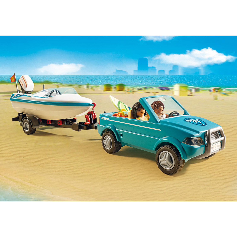 Playmobil Moteur Et 6864 FunVoiture Bateau Submersible Avec Summer 0OkXPN8wn