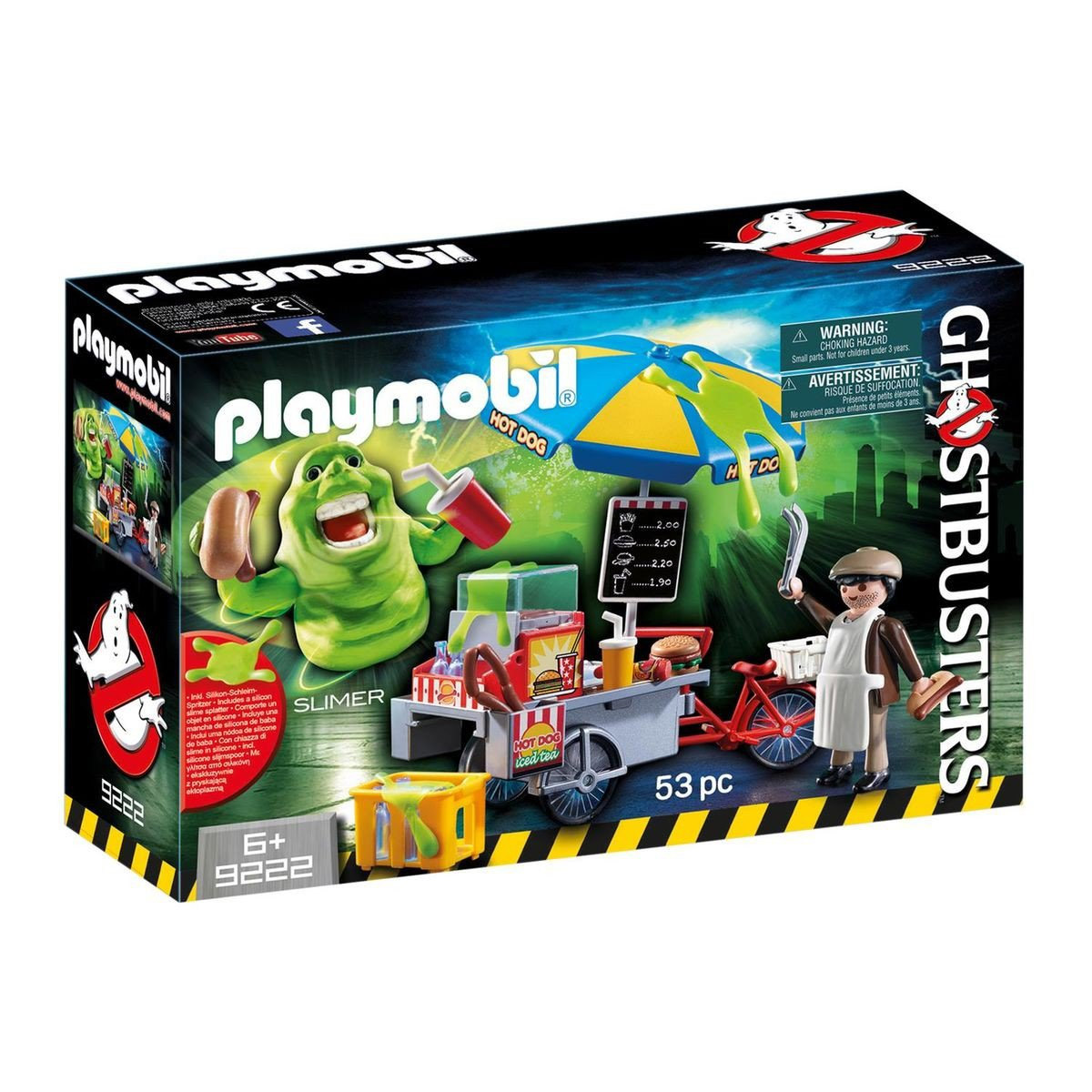Playmobil 9222 : Ghostbusters - Bouffe-tout avec stand de hot-dog