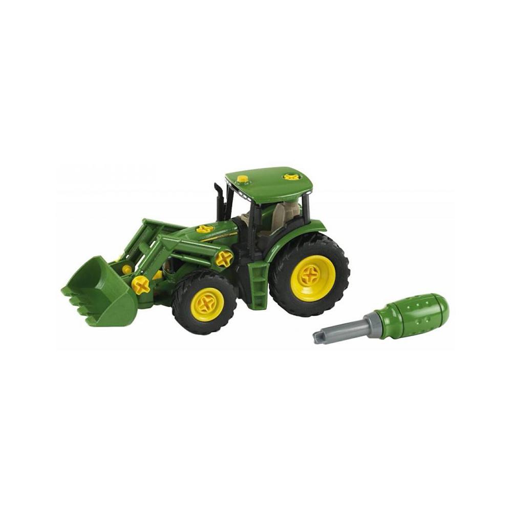 Tracteur John Deere avec chargeur frontal et contrepoids d'équilibrage