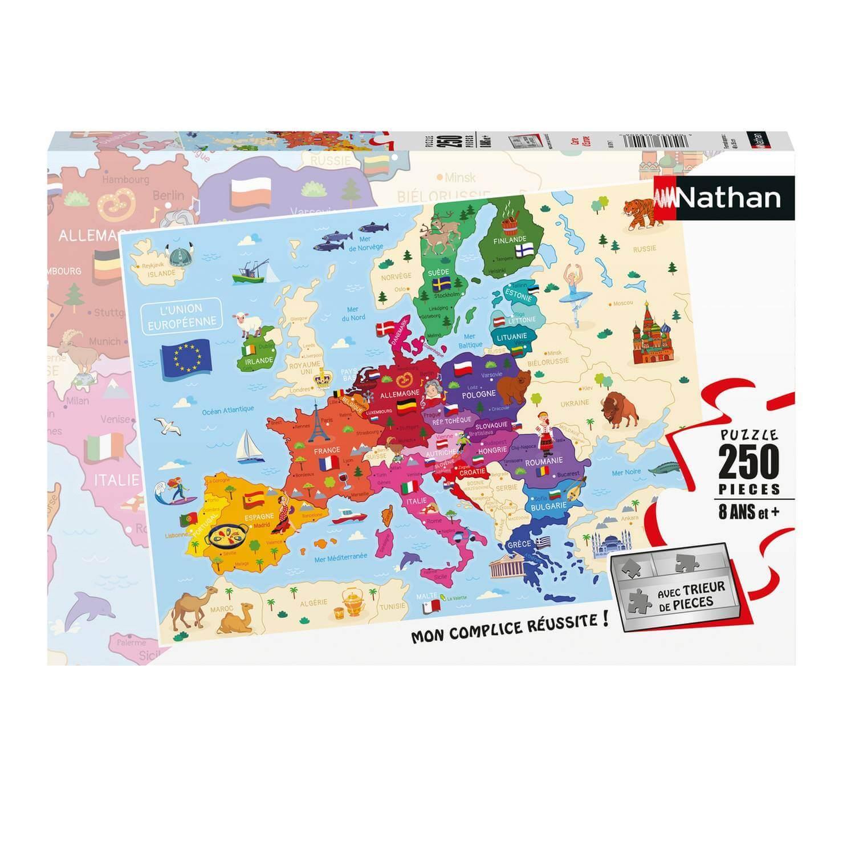 Puzzle 250 pièces : Carte d'Europe