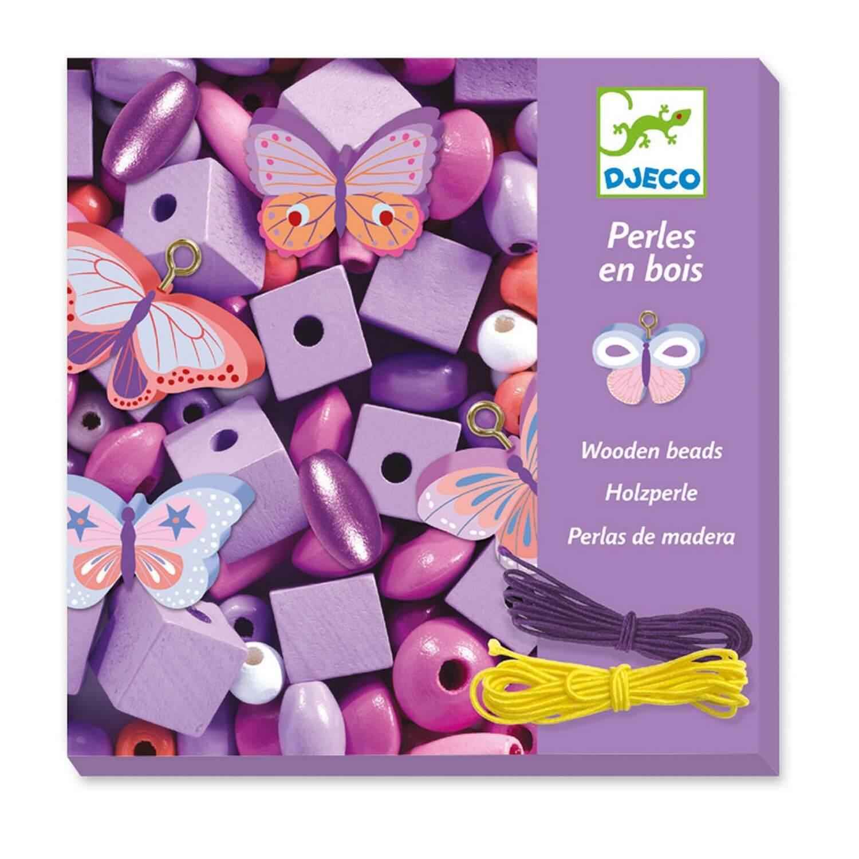 Perles bois - Papillons