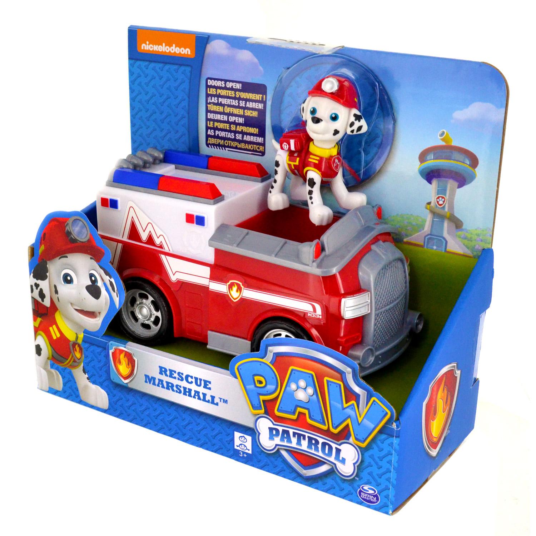 Véhicule Avec Figurine Pat Patrouille Paw Patrol Camion De Pompier Et Marcus