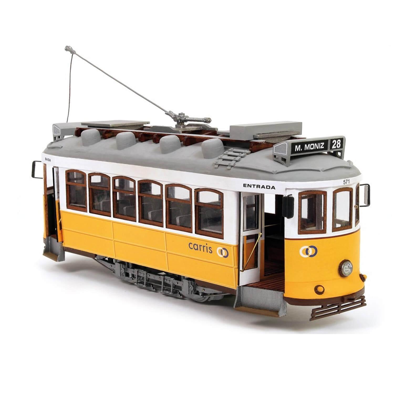 Maquette tramway en bois : Lisbonne