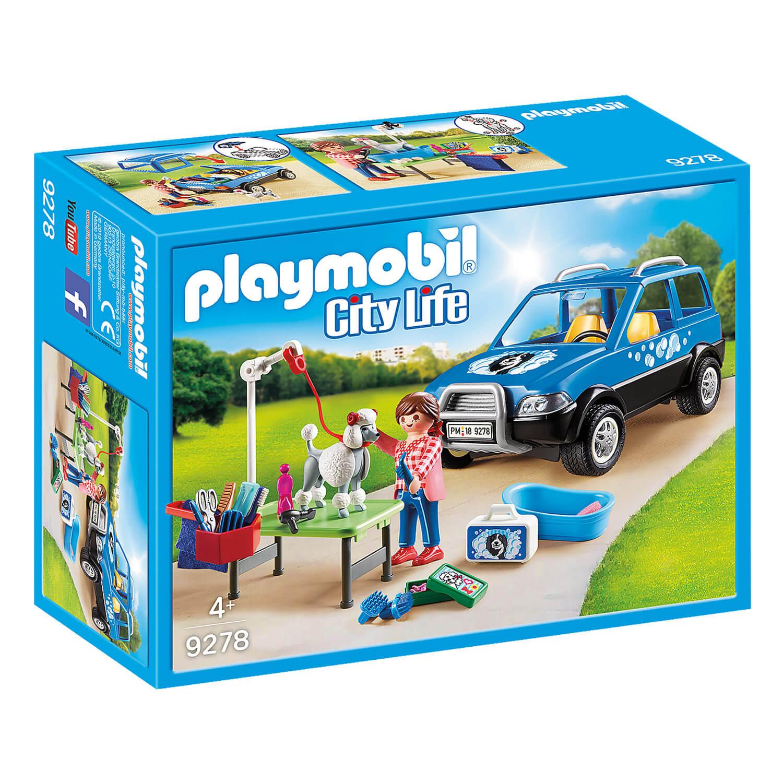 Playmobil 9278 City Life : Toiletteuse avec véhicule