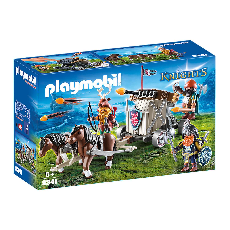 Playmobil 9341 Knights : Char de combat avec baliste et nains