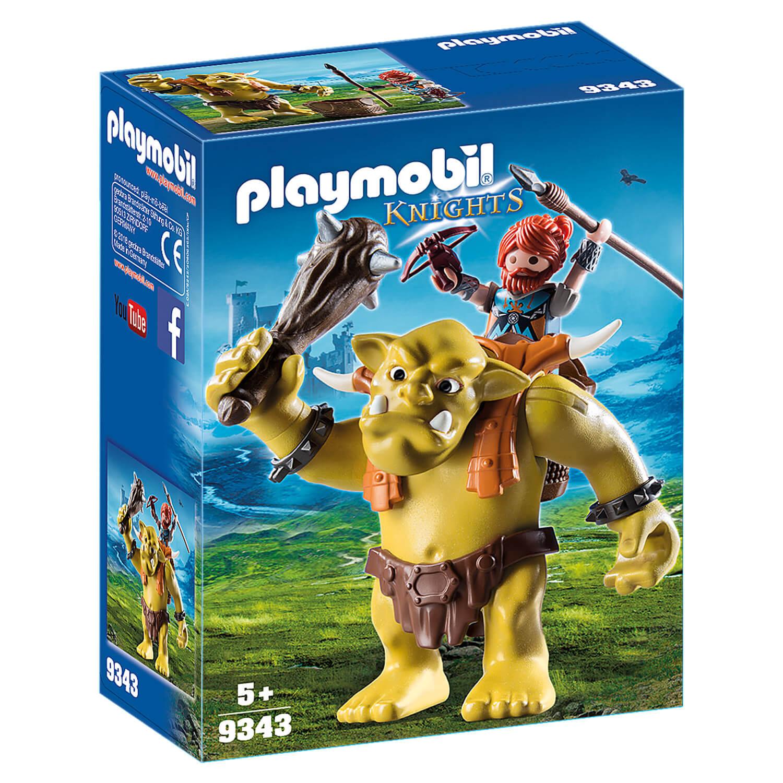 Playmobil 9343 Knights : Troll géant et soldat nain
