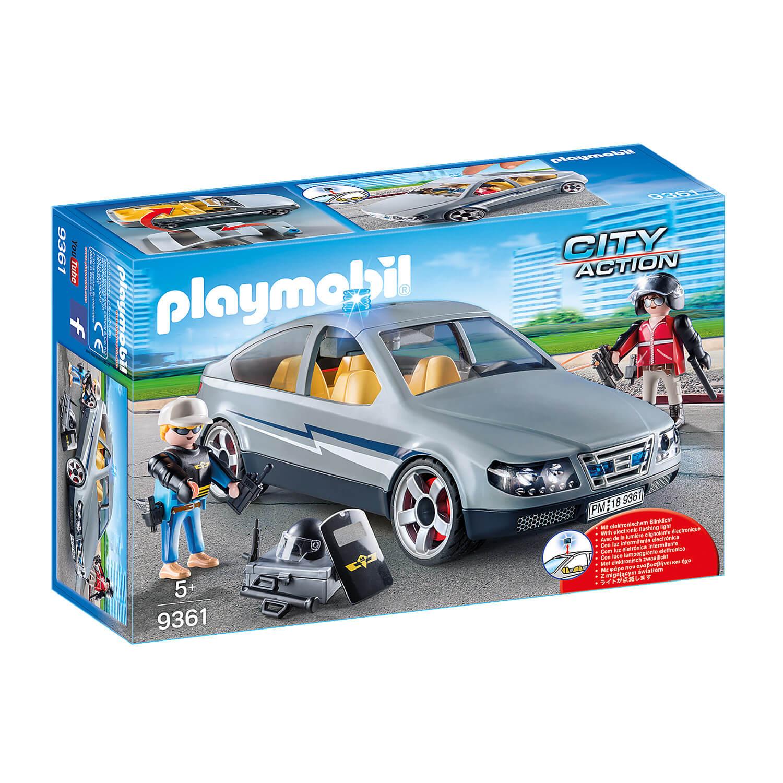 Playmobil 9361 City Action : Voiture banalisée avec policiers en civil