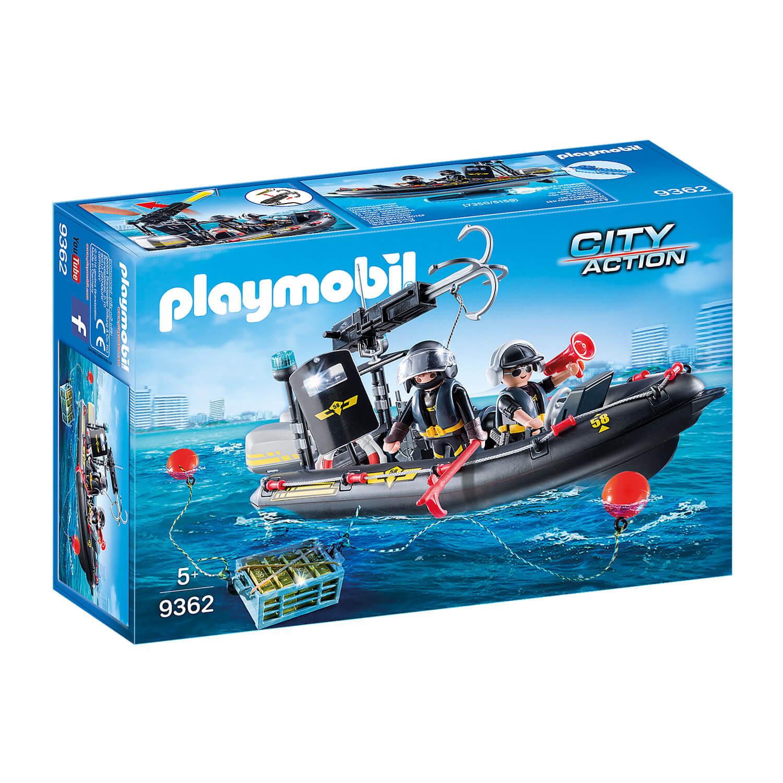 Playmobil 9362 City Action : Bateau pneumatique et policiers d'élite
