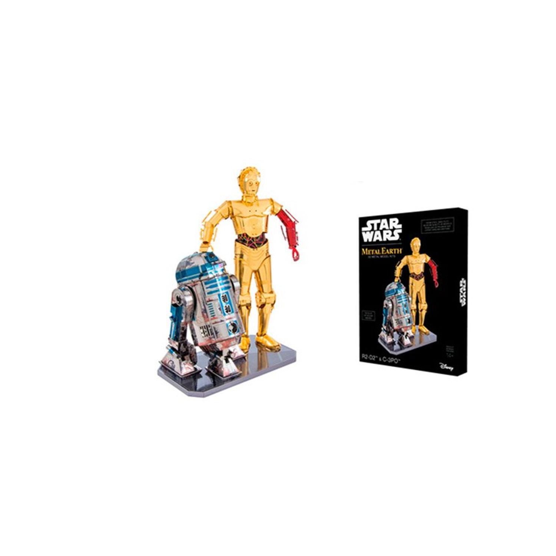 Figurines Metal Earth à assembler : Boîte cadeau - Star Wars : R2-D2 et C-3PO