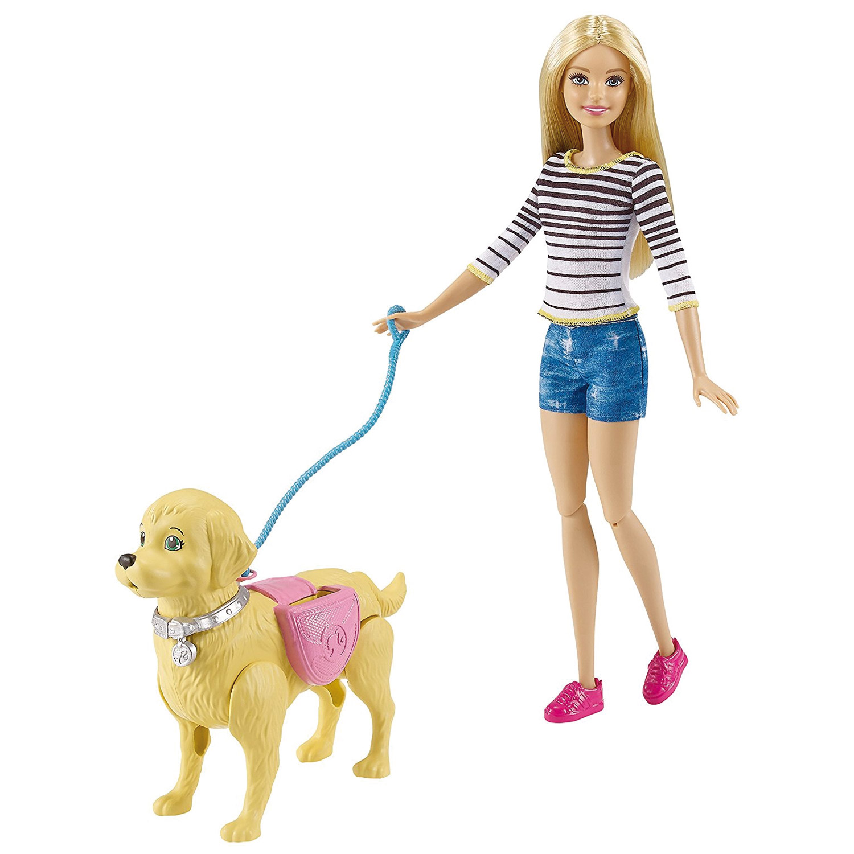 Poupée Barbie Promenade Du Chien