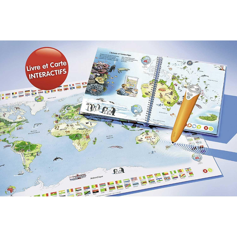 Tiptoi Lecteur Interactif Livre Mon Premier Atlas Et Planisphere