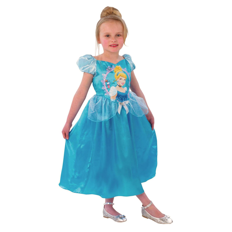 Déguisement Princesses Disney : Panoplie classique Storytime Cendrillon : 7/8 ans