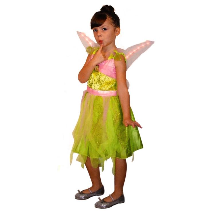 Déguisement Disney Fairies : Panoplie lumineuse Fée Clochette : 5/6 ans