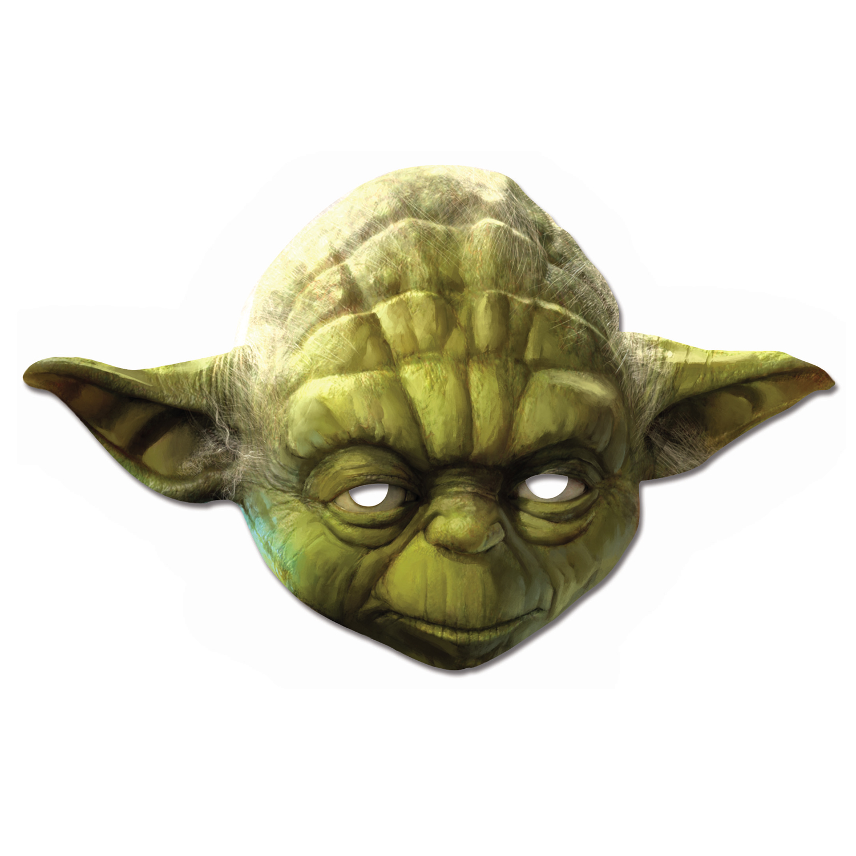 Masque carton enfant Yoda : Star Wars