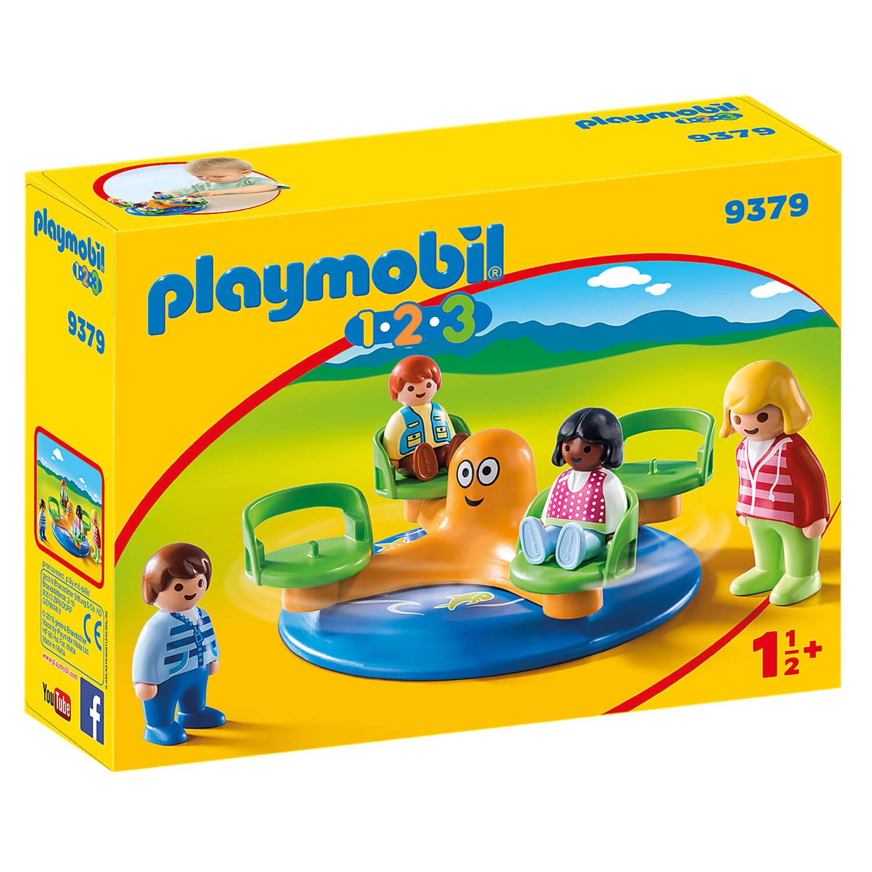 Playmobil 9379 1.2.3. : Enfants et manège