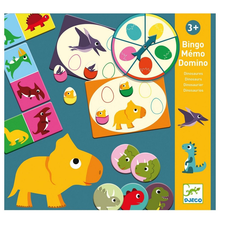 Bingo Memo Domino : Dinosaures