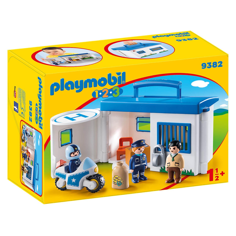 Playmobil 9382 1.2.3. : Commissariat de police transportable