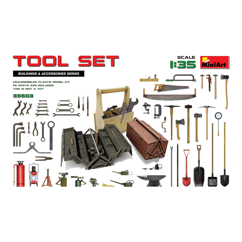Accessoires de dioramas : boîte à outils
