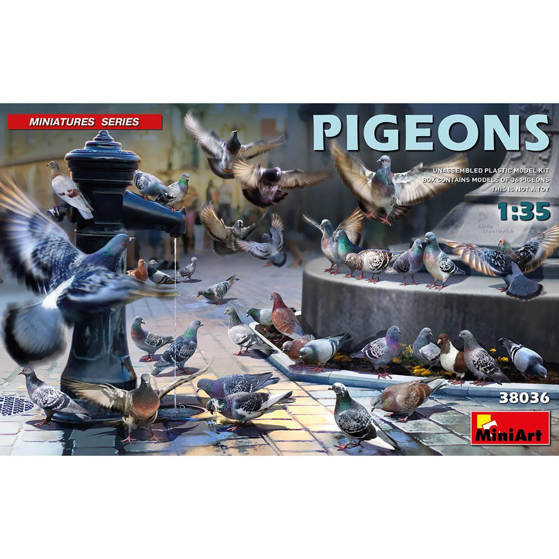 Accessoires de dioramas : Pigeons