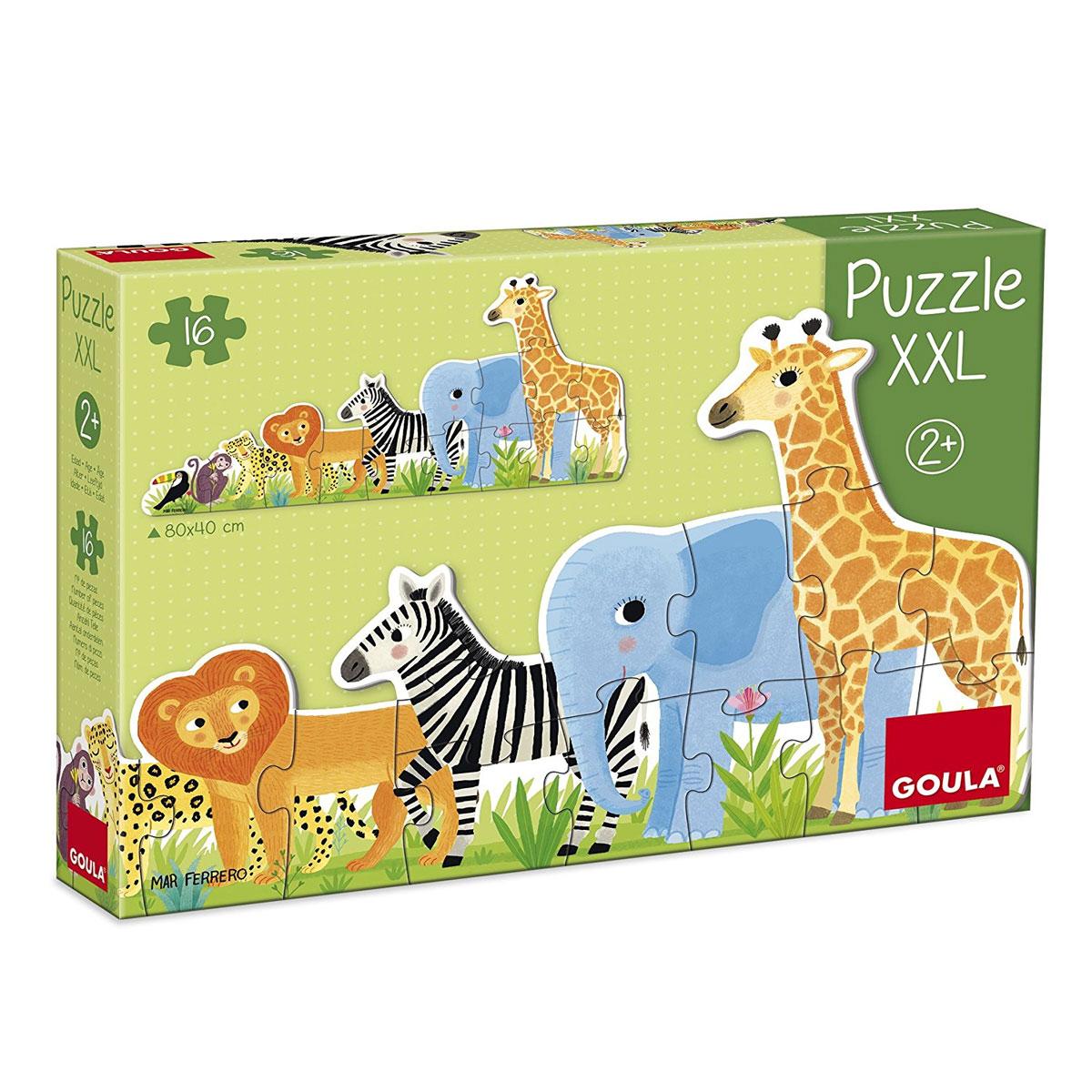 Puzzle XXL 16 pièces : Les animaux de la jungle