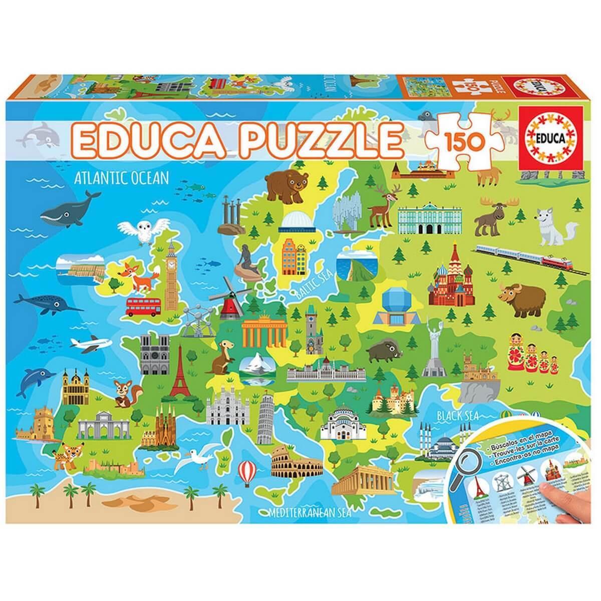 Puzzle 150 pièces : Carte d'Europe