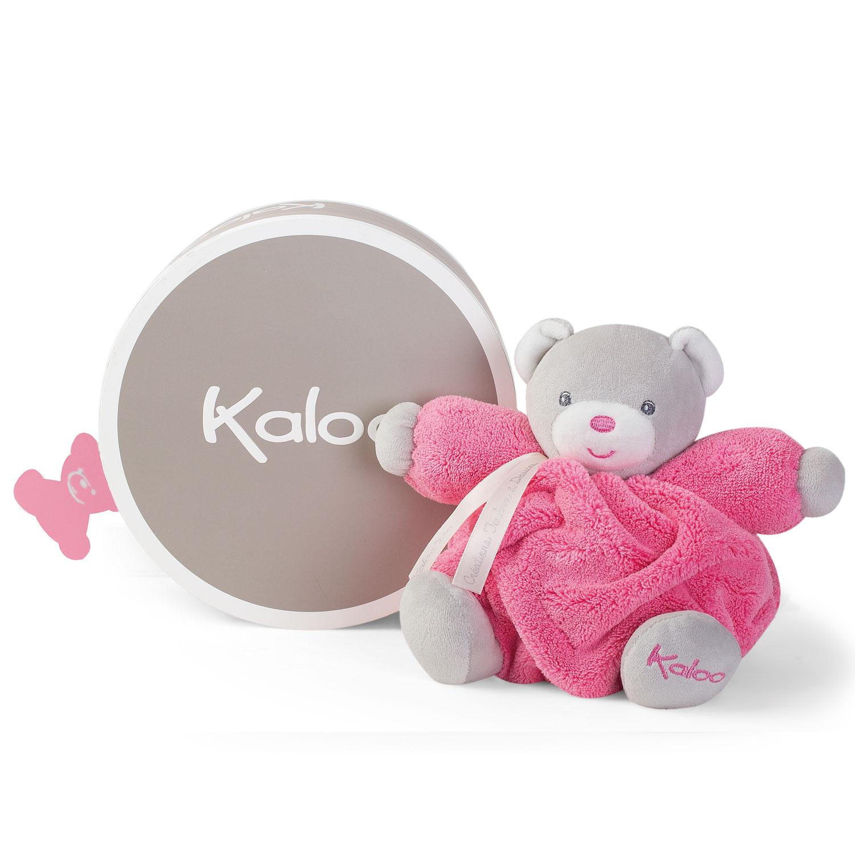 Kaloo Plume : Patapouf ourson framboise (Petit)