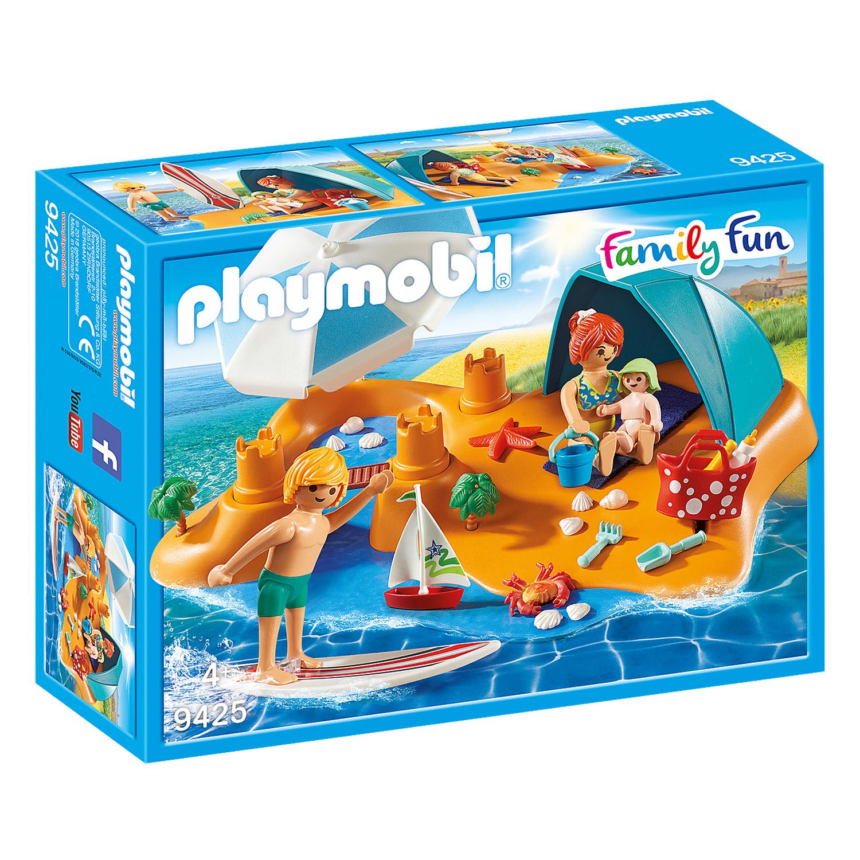 Playmobil 9425 Family Fun : Famille de vacanciers et tente