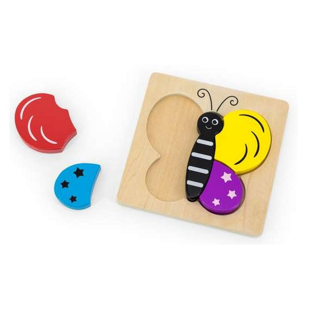 Puzzle à encastrement 5 pièces en bois : Papillon