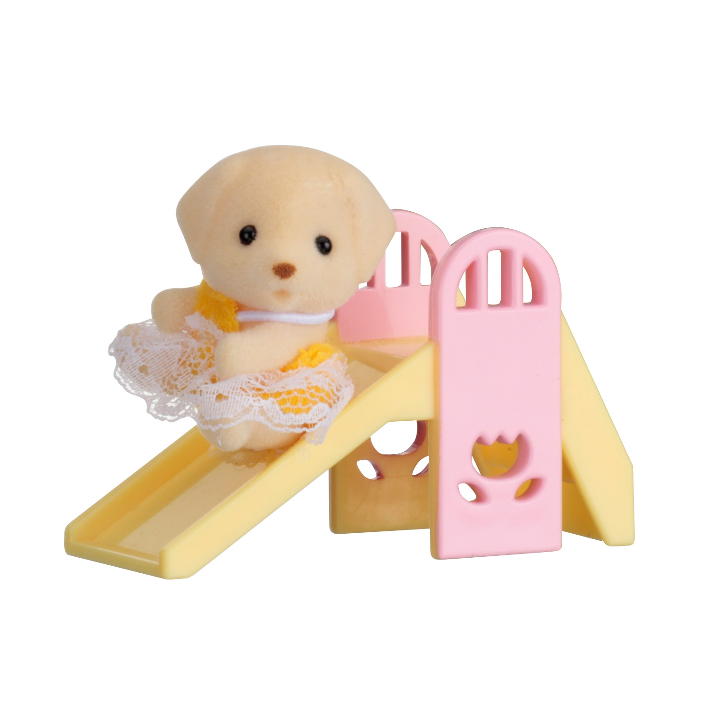 Sylvanian Family 5204 : Valisette bébé Chien : Toboggan