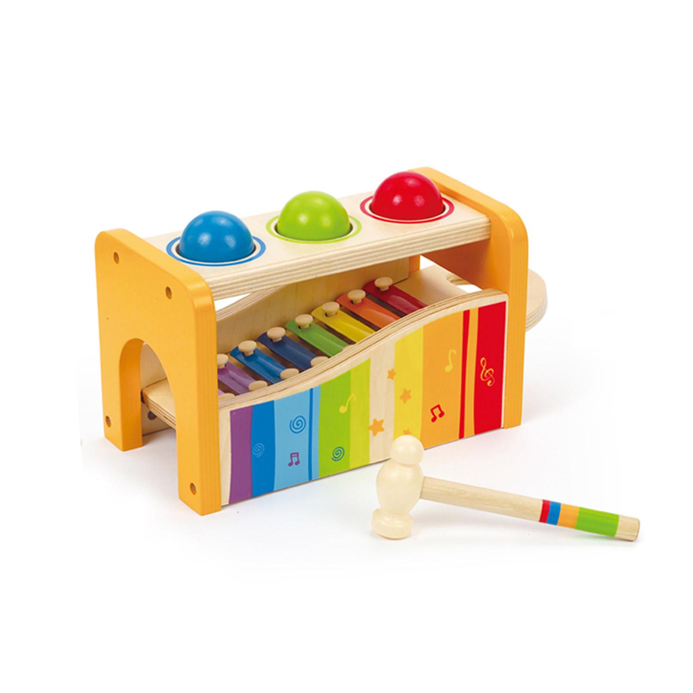Banc à marteler avec xylophone en bois