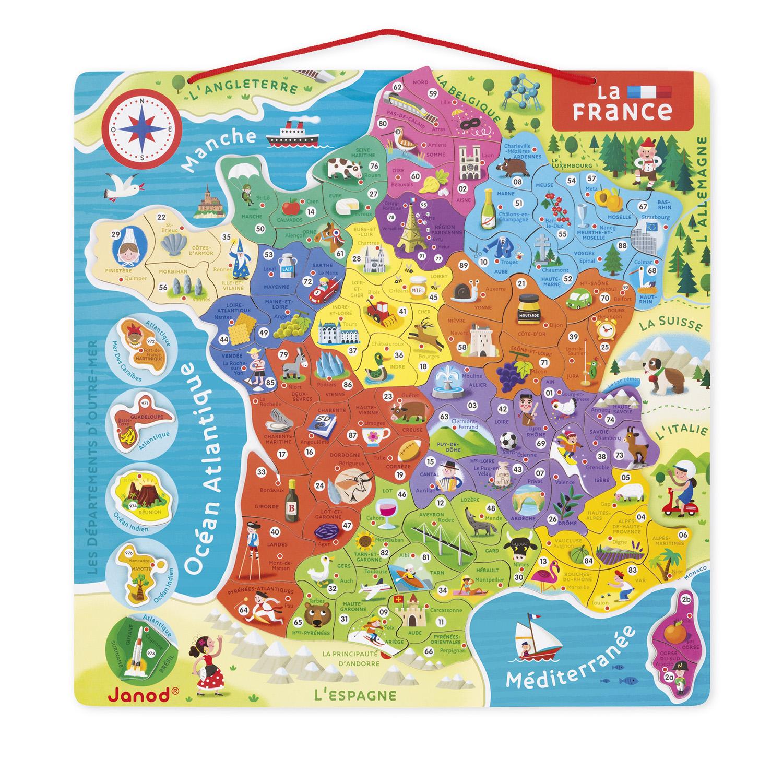 Puzzle 93 pièces : La France magnétique