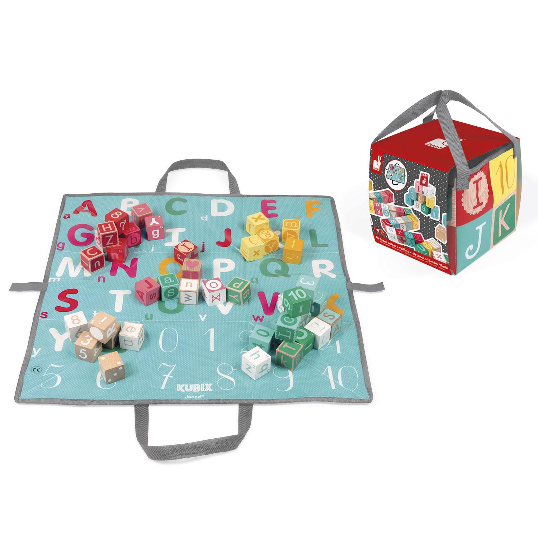 Cubes Kubix : 40 cubes lettres et chiffres