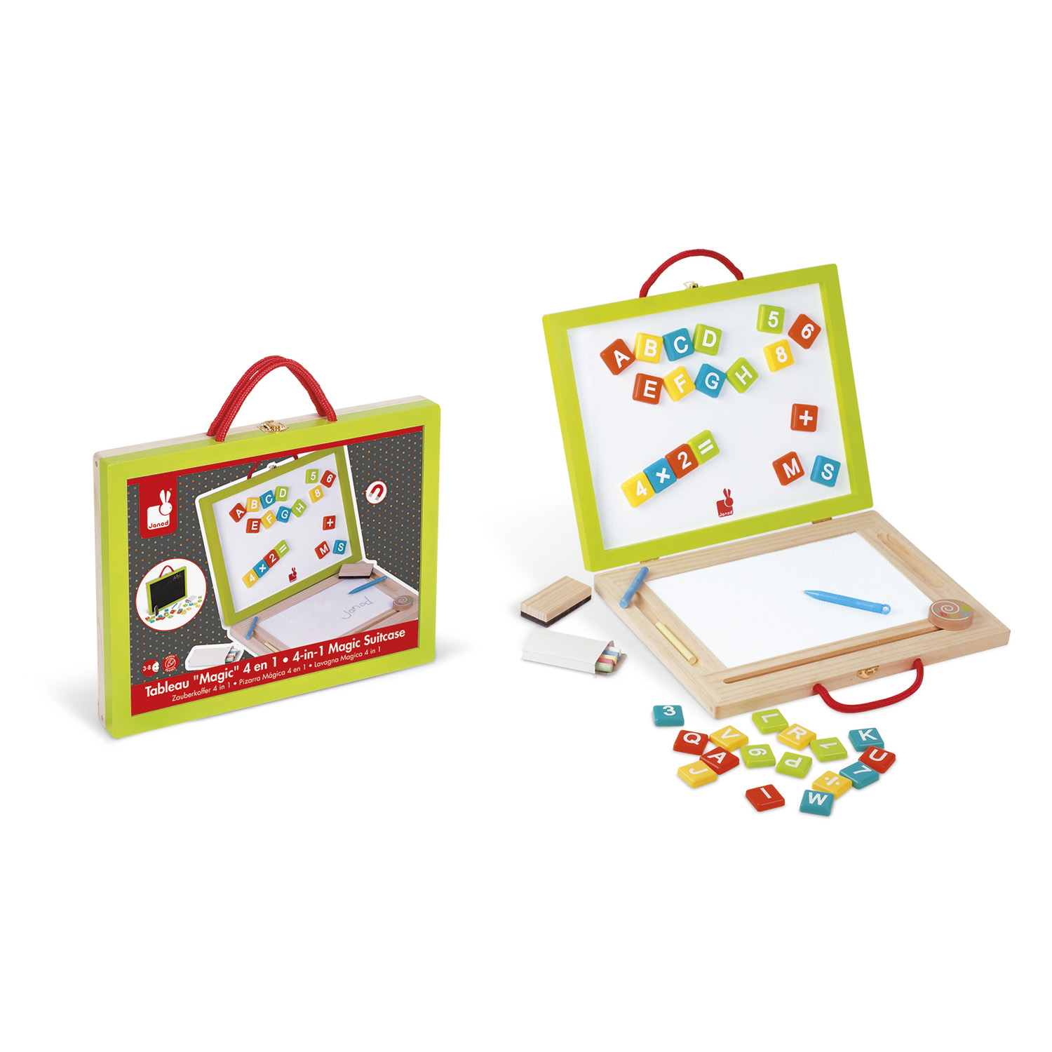 Mallette Tableau Magic 4 en 1 (bois)