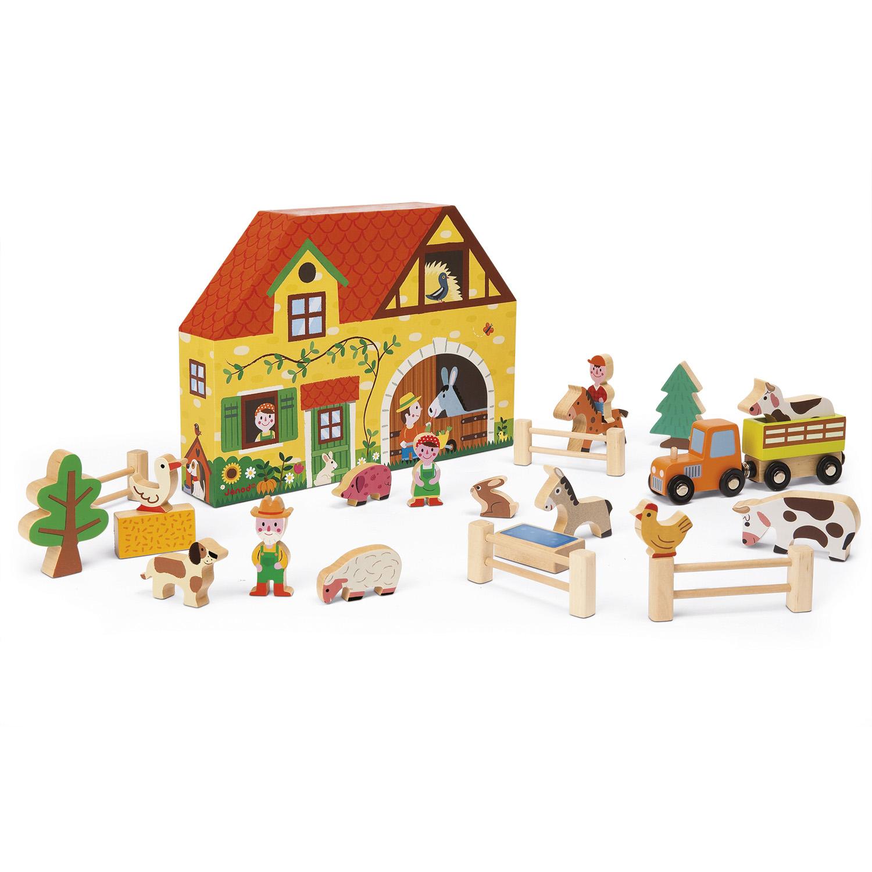 Story Box Ferme : 23 pièces en bois