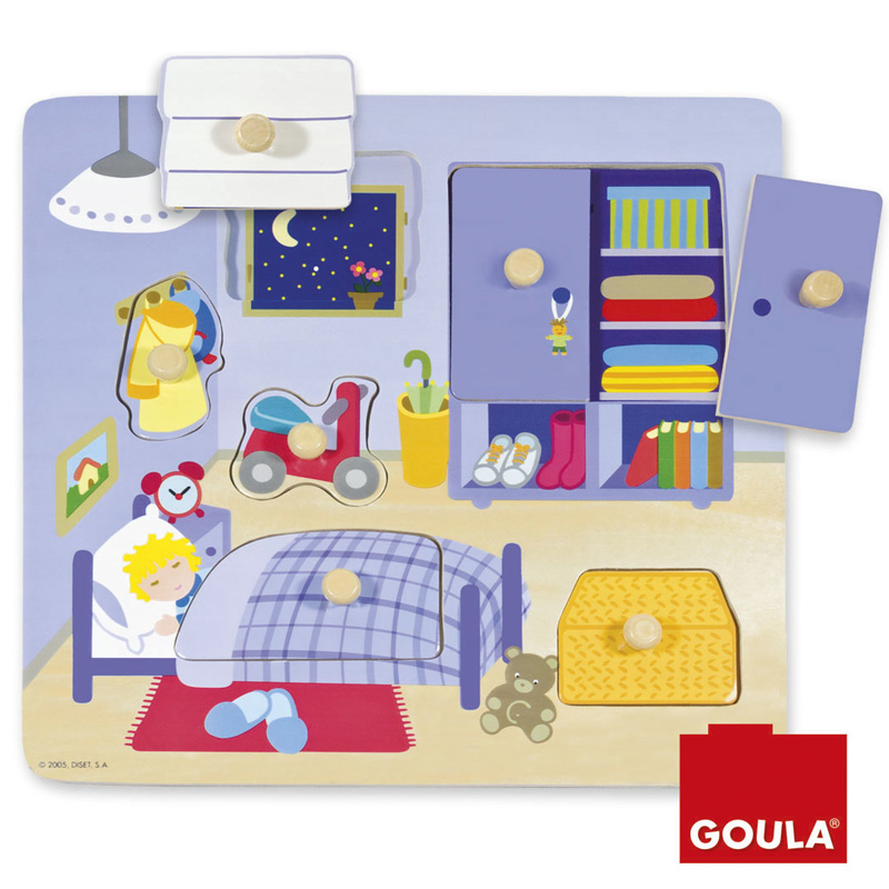 Encastrement 7 pièces en bois : La chambre de l'enfant