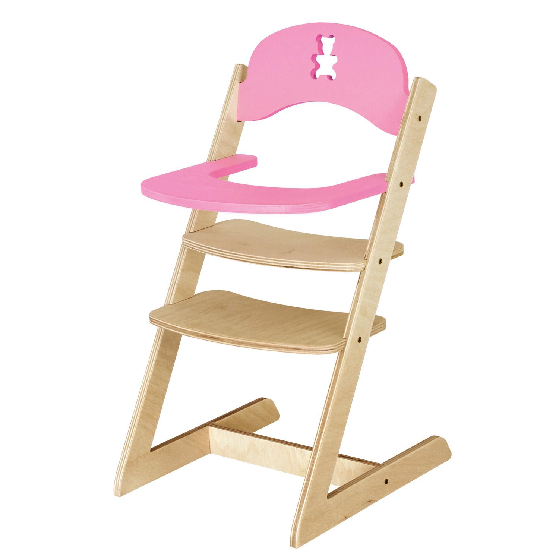 Chaise haute nounours en bois