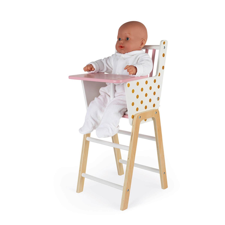 Chaise haute pour poupée : Candy chic