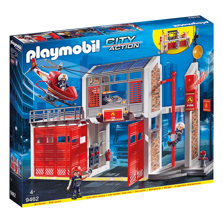 Playmobil 9462 City Action : Caserne de pompiers avec hélicoptère