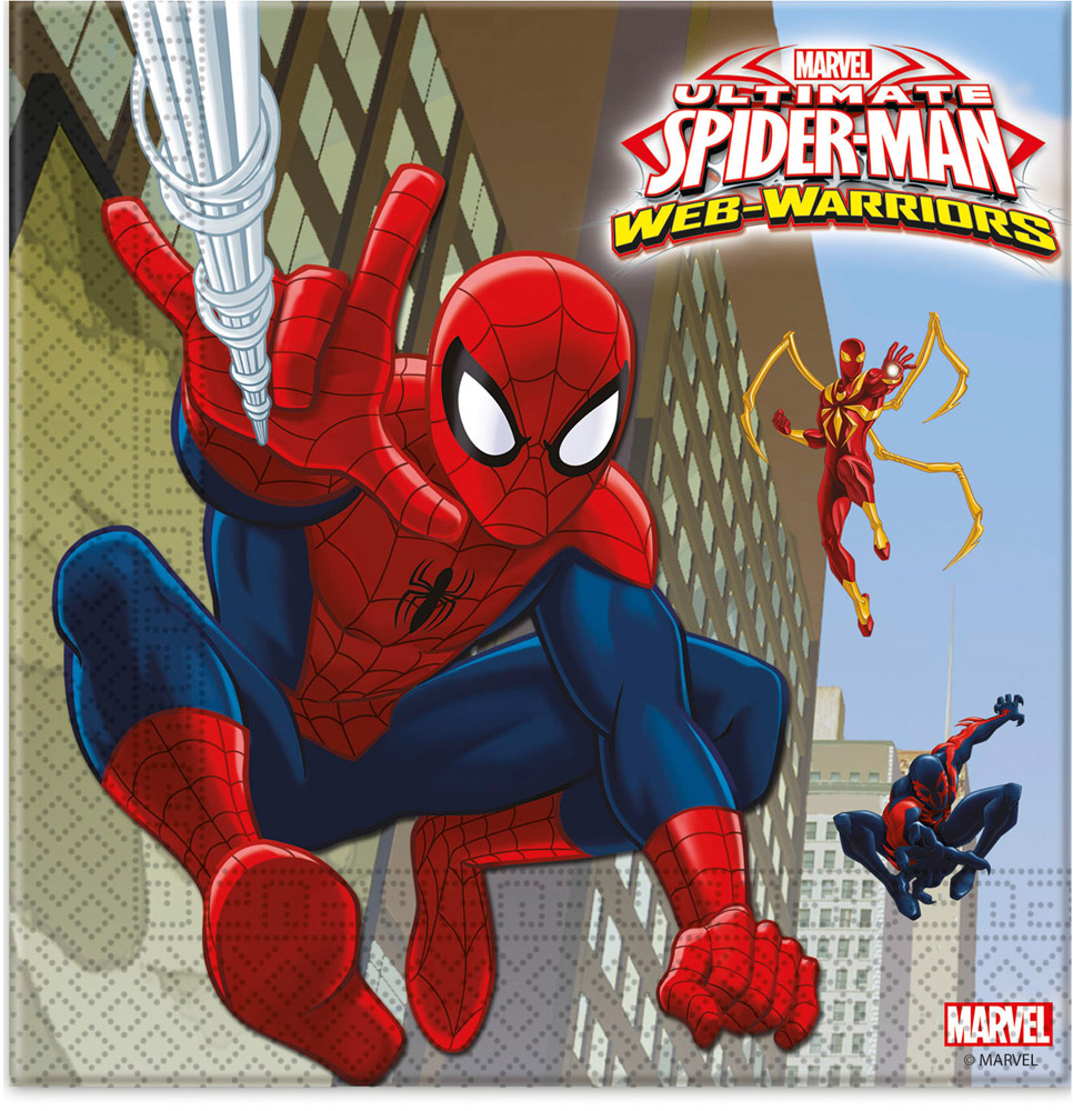 Serviettes Ultimate Spiderman Web Warriors? x20