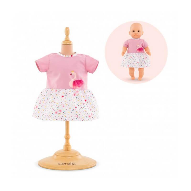 Vêtement pour poupée mon premier poupon Corolle 30 cm : Robe Cygnes De Tendresse