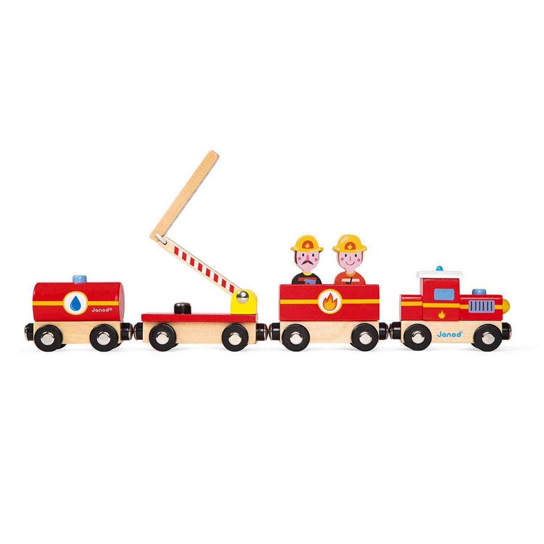 Train Pompiers en Bois - Story