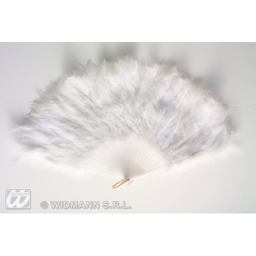 Eventail Plumes Blanches