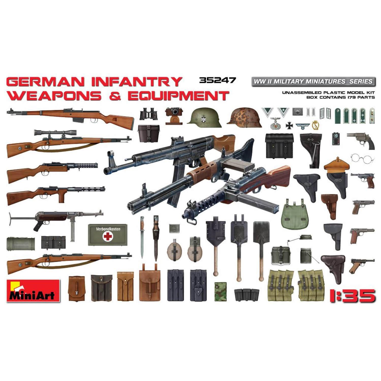 Accessoires militaires : Armes et équipement d'Infanterie allemand