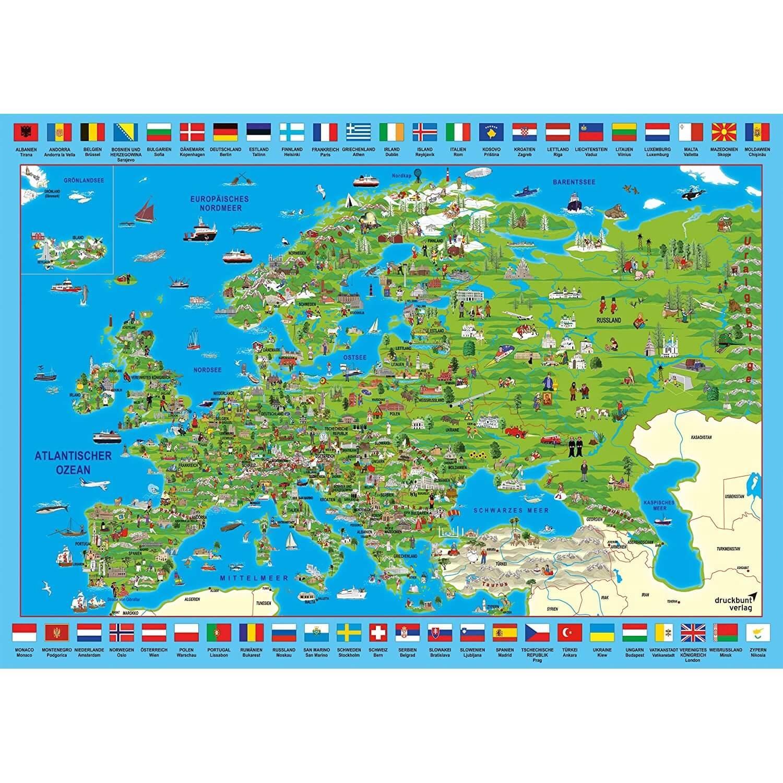 Puzzle 500 pièces : Découvrir l'Europe