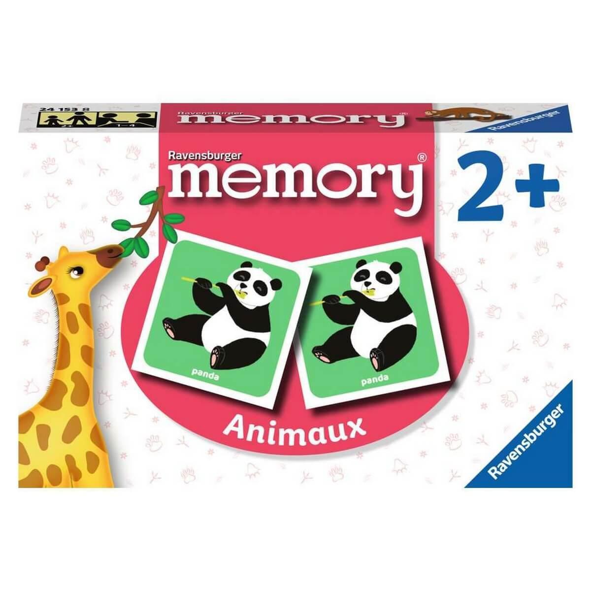 Jeu de memory : Les animaux