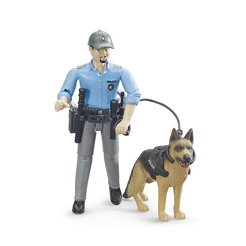 Figurine Bworld : Policier avec son chien