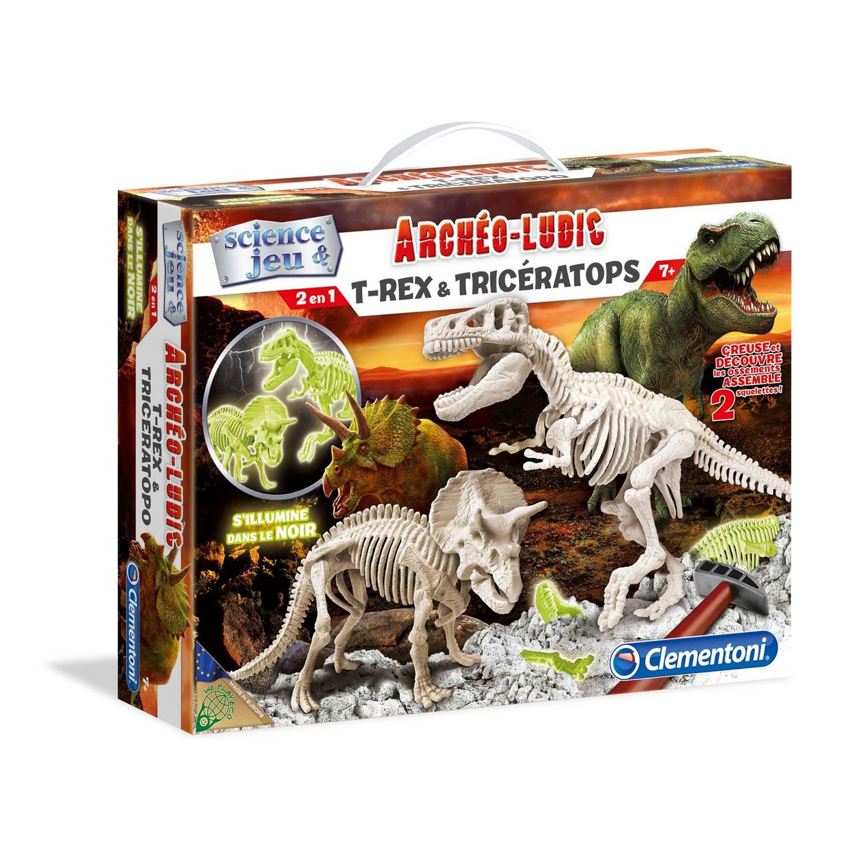 Science et jeu : Archéo-ludic : T-Rex et Tricératops phosphorescents