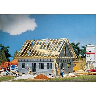 Modélisme HO : Maison en cours de construction