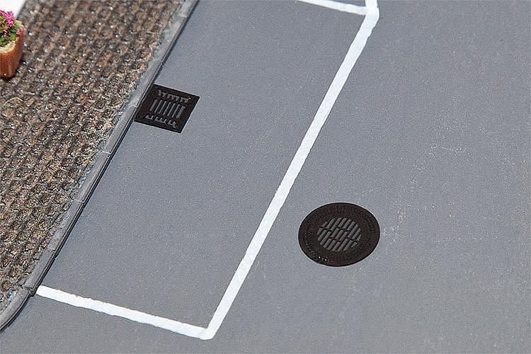Modélisme HO : Éléments d'aménagement de ville : Plaques d'égout