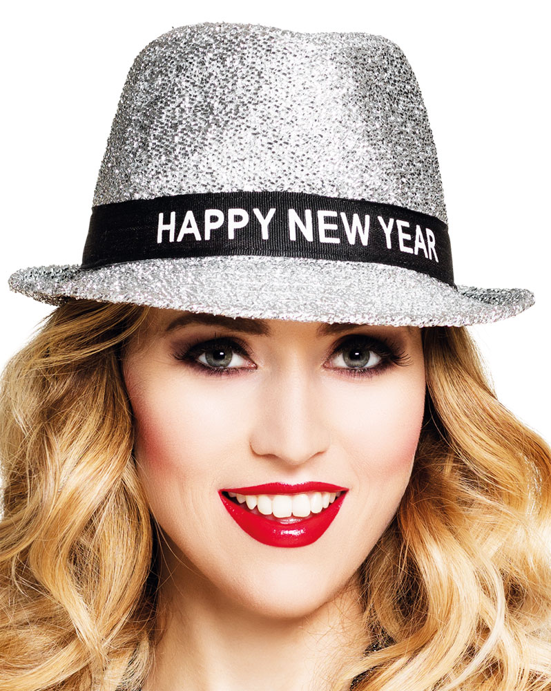 Chapeau - Happy New Year - Argenté